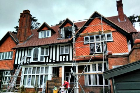 Exterior Renovation of Large Cottage in Guildford